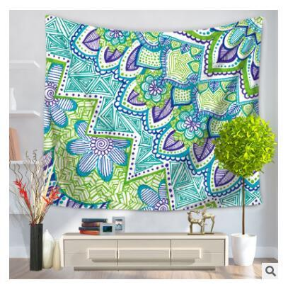 Polyester Wall Hanging Sull Elephant Animal Painted Feather Livingroom Home Decor Beach Shawl Tablecloth Cover Hippie Tapestry Free Shipping