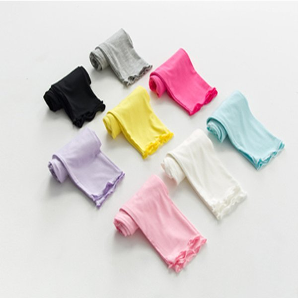 8 colors Girl Pants Candy Modaier children's seven pants Wooden ear children punch underwear Light and breathable