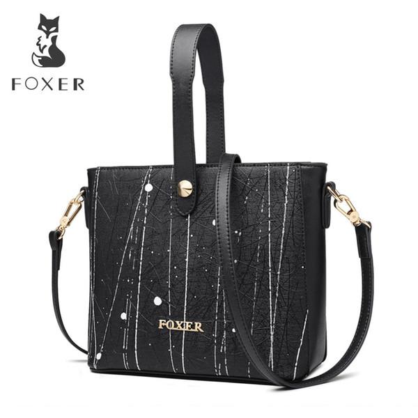 FOXER Brand New Fashion Lady Graffiti Handbag Borse a tracolla versione coreana Esclusiva personalizzazione Borse donna a tracolla