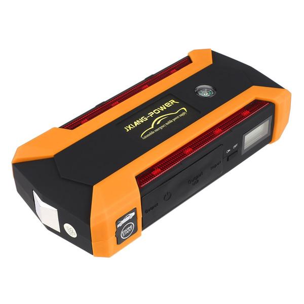 12V Portable 4USB Car Jump Starter Power Bank Tool Kit Chargeur de batterie automobile LED d'urgence Lumière