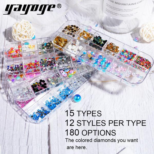 Yayoge Circle Beads Nail Art Rhinestones New Multi Type Glitters Acrylic UV Gel Gems Decoration Decals IL beauty elements