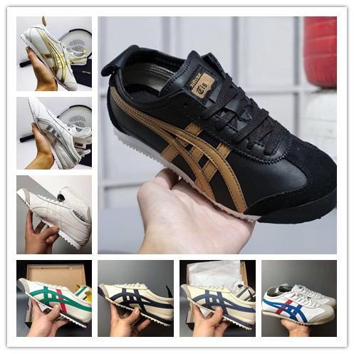 [Con reloj deportivo] 2019 Designer shoes Asics men women Originals Onitsuka Tiger Sheepskin Lightweight MEXICO Running Shoes hombres mujeres Sport Best Quality Athletics Sneakers