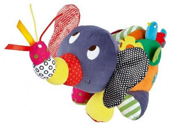 Arabası çıngırak Yeni Varış Oyuncaklar Bebek Fil Arabası Çıngıraklar Cep Bebek Bebekler Için Brinquedos Eğitim peluş Oyuncaklar