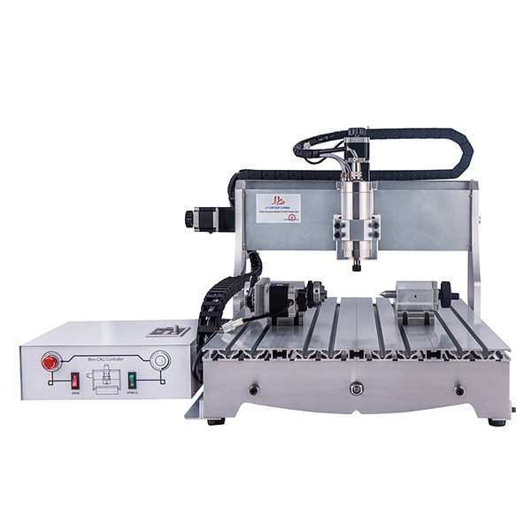 6040 4axis 800w cnc router engraving cutting and milling machine ball screw with mach3 control - from $1857.38