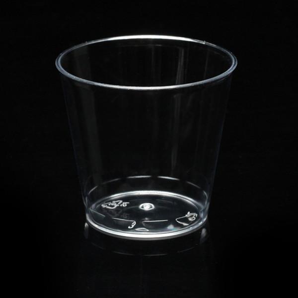 300 unids claro plástico duro vasos desechables partido vasos de chupito jalea taza una vez uso Tumblers fiesta de cumpleaños beber
