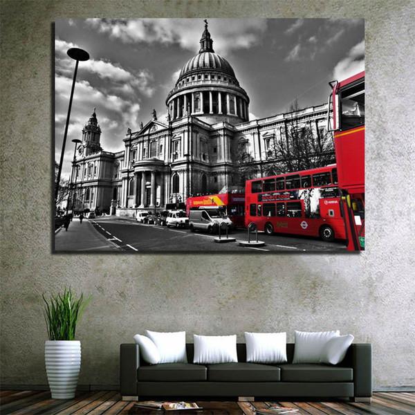 Acheter 2019 En Gros Pas Cher Vente Chaude Londres Street View Toile Peinture Home Goods Mur Art Peinture Mur Photos Décor à La Maison Mur Décorat à