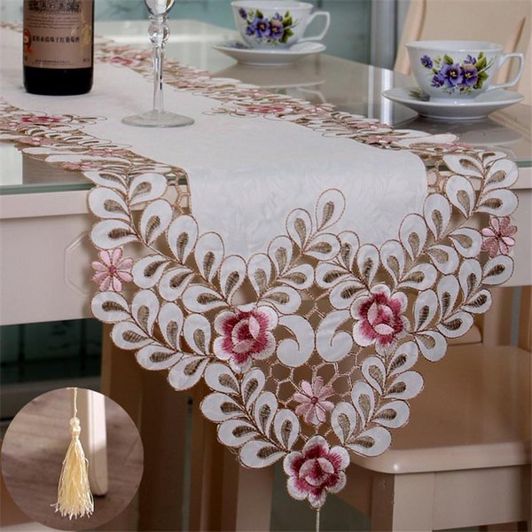 Broderie Florale Dentelle Chemins de table meuble piano Dinning Table Cover Retro NEUF