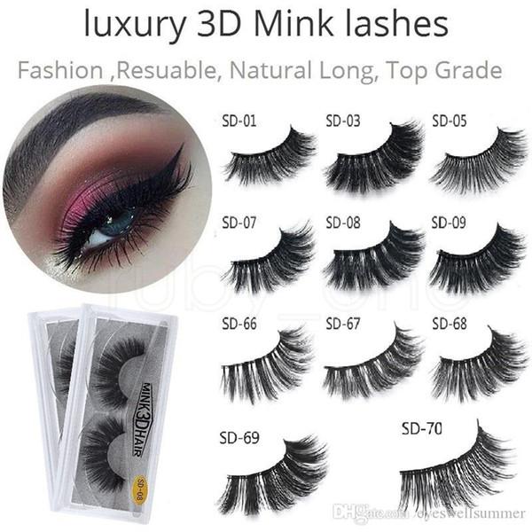 Vison 3D Cils À La Main Full Strip Lashes Cruauté Libre De Luxe Cils De Vison Maquillage Lash Faux Cils RRA77