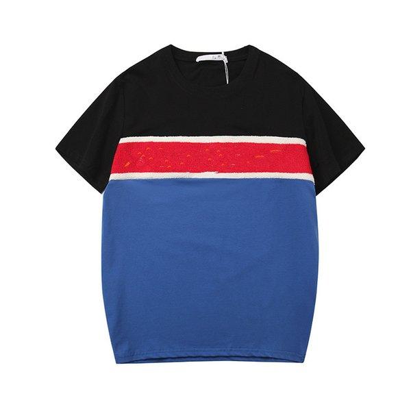 19ss sıcak yeni erkekler ve kadınlar T-shirt mektuplar karışık renk kısa kollu kazak kişilik T-shirt rahat moda kısa kollu