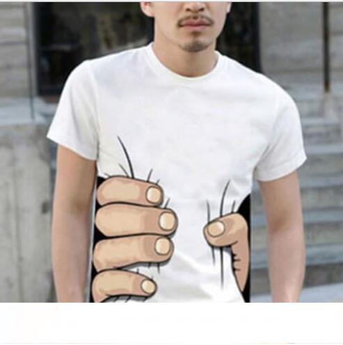 T-shirt da uomo estiva T-shirt a mano grande 3D Abbigliamento da uomo O-collo Manica corta Camicie da uomo Top T-shirt Per uomo homme Top homme Taglie forti