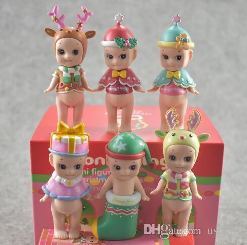 Neue Sonny Angel Weihnachten Limited Edition Cupid Angel Doll für Kinder Baby Überraschungsgeschenk Schnitt Ornament Puppen Spielzeug mit Box Spielzeug