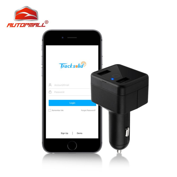 Car Charger Mini GPS Tracker Car GPS Locator Voice Monitor Geo-fence Dual Charging Port SOS Alarm Real-time Tracking LBS Web APP