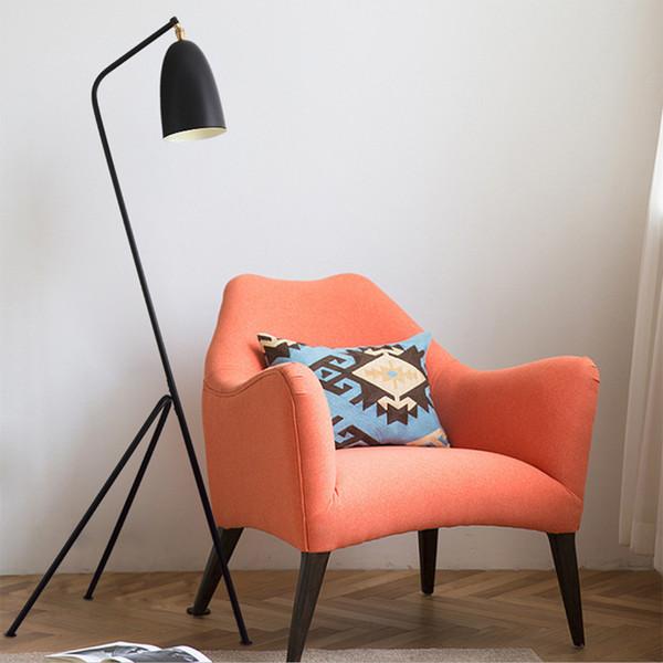 Dinamarca retro del saltamontes Macaron Lámparas de pie creativa de la sala Studio Tripot lambader lámpara de pie