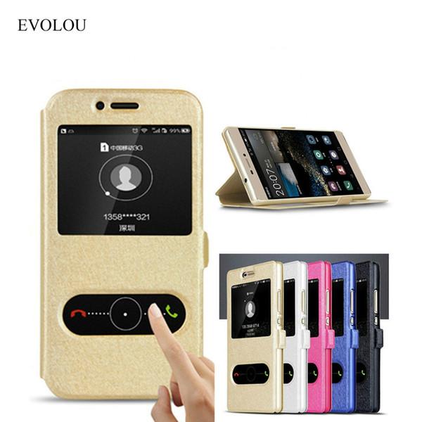 """Abdeckung für huawei y6 für Huawei Honor 4C Pro / TIT-AL00 Y6 Pro / TIT-L01 5.0 \""""Case Schnell Antwort Ansicht Fenster Flip"""