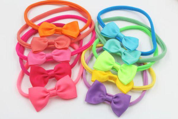 Beauty Baby Girl Headband Bow Grosgrain Ribbon Hair Bow Hair Band for Newborn infant 20pcs