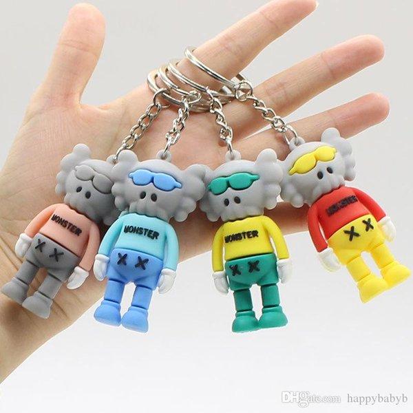 Bunte Sesame Street kaws Anhänger Puppen Spielzeug Schlüsselanhänger Kettenanhänger Monster Schlüsselanhänger Freies Verschiffen