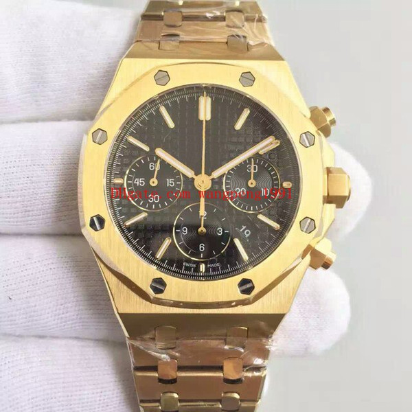 3 cores de alta qualidade relógio 41mm 26320BA.OO.1220BA.01 26320BA.OO.1220BA.02 VK Quartzo 18K Ouro Amarelo Chronograph Mens Watch Relógios