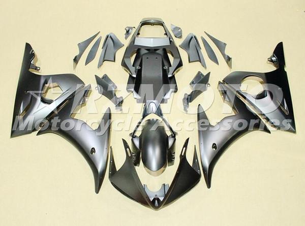 Alta qualidade Novo ABS carenagens da motocicleta apto para YAMAHA YZF R6 2003 2004 2005 YZF R6 03 04 05 conjunto de carroçaria preto fosco