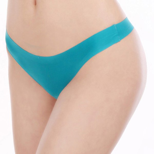 2019 Nouveau sans couture ordinaire String Plus Size V-String courtes femmes ultra minces culottes sexy invisable T-back des femmes chaudes sous-vêtement sous-vêtements