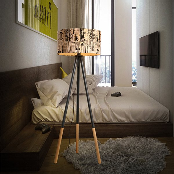 2019 Creative Modern Floor Lamps Warm Personality Round Wood Vertical  Tripod With Light Source US Plug Standing Reading Living Room Bedroom Lamps  From ...