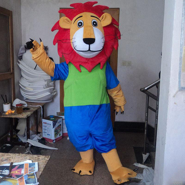 Halloween Blue Lion Mascot Costume Top Quality Cartoon Lion King Anime Theme Character Christmas Carnival Party Costumes Angel Costumes Ladies