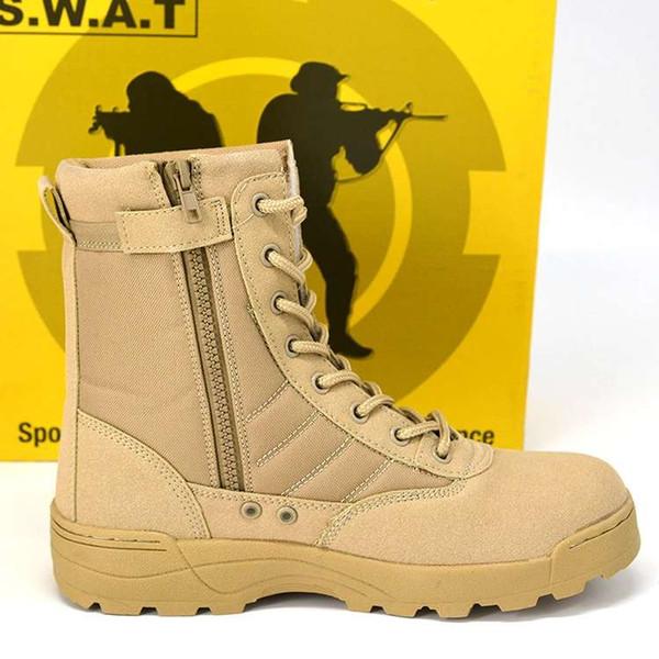 Ins Militärstiefel Delta Tactical Boots Outdoor-Wüste Spezial Polizei Stiefel Soldaten Trainingsschuhe atmungsaktiv tragen 2019 Klettern hohe Schuhe