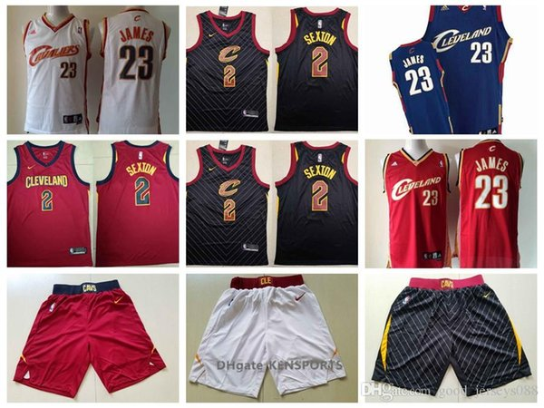 best service 79b78 11a37 2019 Retro Men Cleveland Basketball Cavaliers Jersey Leonard 23 LeBron  James 2 Collin Sexton Jerseys Red Black White From Luckybaby03, $18.58 | ...