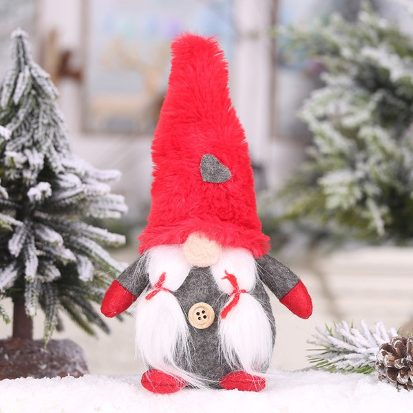 Plush Gnome Doll Ornaments Swedish Christmas Santa With Red Hat Nordic Elf Figurine christmas decorations for home