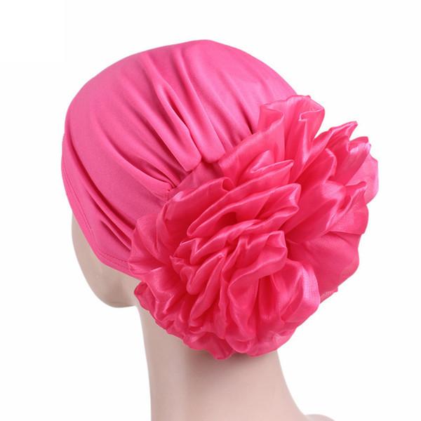 300PCS / LOT New Autumn Winter Women Flower Turban Hat Multicolor Cap Casual Bonnet Beanie Hats for Women