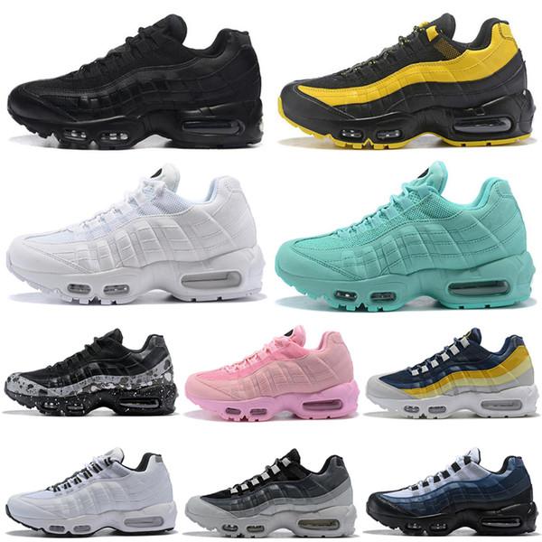 Nike Air Max 95 airmax Hommes Femmes Chaussures de sport Triple blanc Laser Fuchsia tout rouge gris Hommes Designer Sneakers Chaussures de course en gros