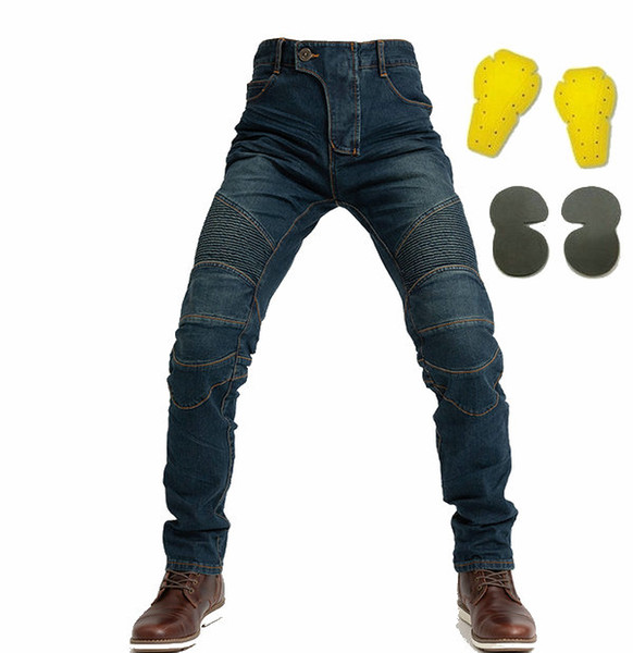 top popular motorcycle riding jeans komine moto pants protection leisure trousers motorbike sports casual jeans pants loose straight men's trousers 2019