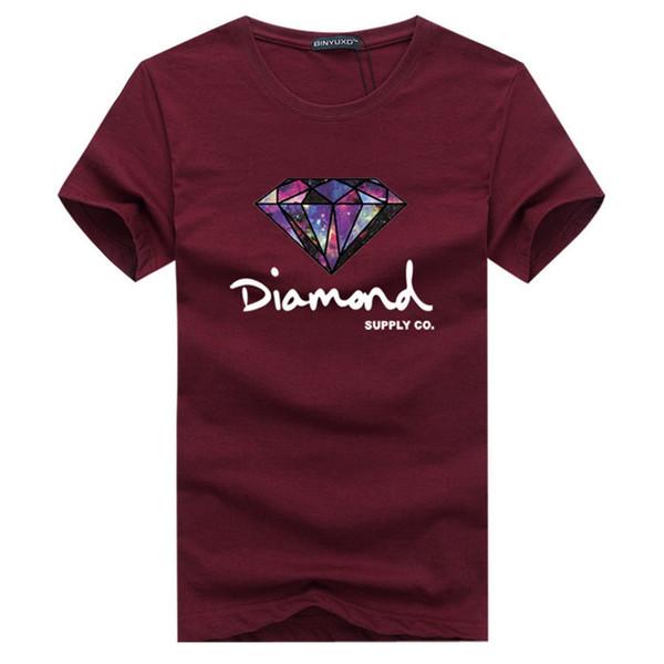 New Summer Cotton T-shirt da uomo Moda Stampato a maniche corte Diamante Top da uomo Tees Skate Marca Hip Hop Abbigliamento sportivo DD4