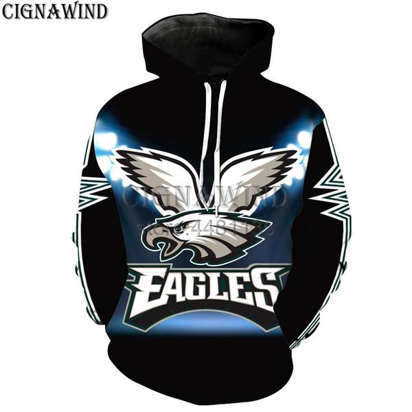 Nuovo arriva popolare felpe con cappuccio Philadelphia Eagles uomini donne felpe stampa 3D divertente moda harajuku stile streetwear top