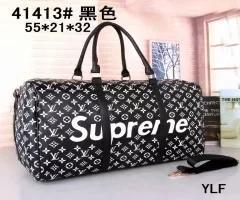 wholesales 55cm handbags Hot Luxury men women travel bag PU Leather bag brand designer luggage handbags large capacity sports bag