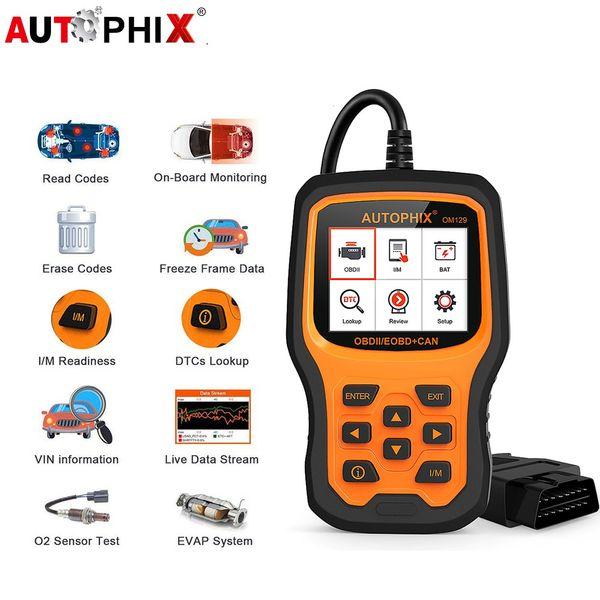 Autophix OM129 OBD2 Diagnostic Tool Enhanced Automotive Scanner Auto Check Engine Battery Car Code Reader Scan