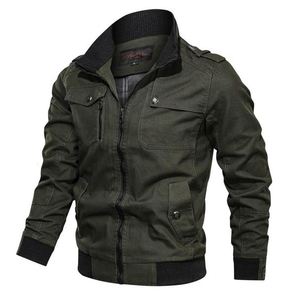 2019 Outono Primavera Algodão Militar Jacket Casaco masculino Soldado Estilo MA1 Jackets Masculino Marca Mens Bomber Jackets Piloto Outdoor Y190924