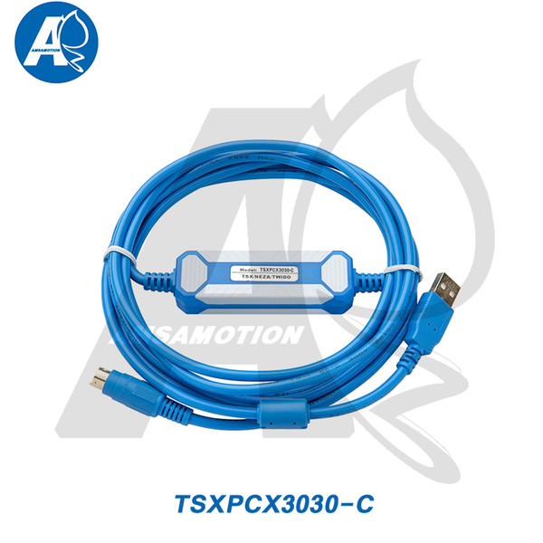top popular Amsamotion TSXPCX3030-C Suitable Schneider Wido  TSX  Neza Series PLC Programming Cable TSXPCX3030 Download Cable 2021