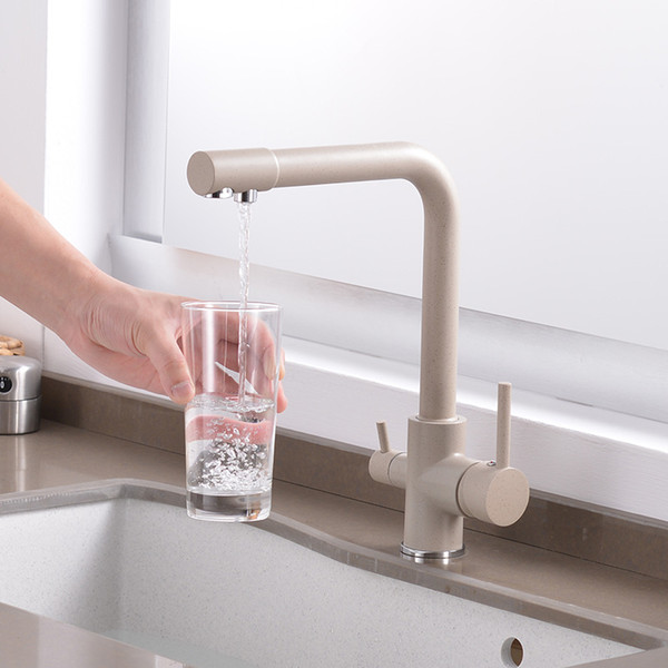 2019 Filtered Water Kitchen Faucet 360 Degree Rotation Bend&Double Right  Angle&Right Angle Brass Faucet Kitchen Sink Tap From Homesets, $70.08 | ...