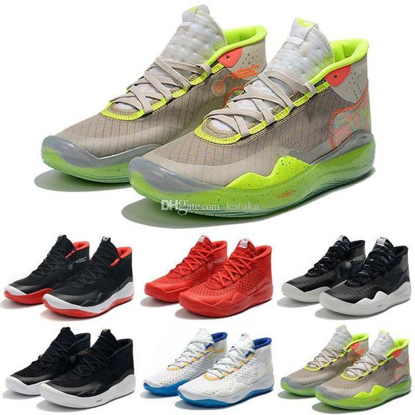 2019 Новый Kevin Durant XII KD 12 Спортивная Баскетбольная Обувь для Мужчин Высочайшее качество Тройной Черный Красный 12с Дизайнер Спортивные Кроссовки Кроссовки 7-12