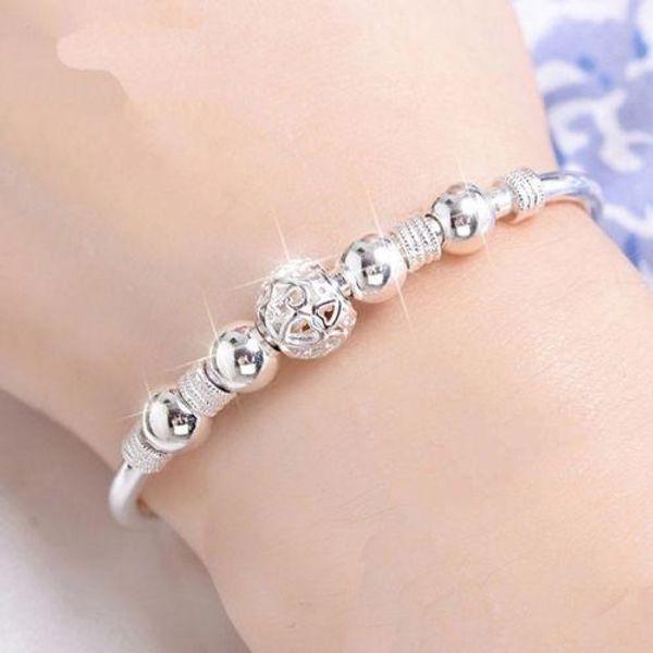 Braccialetti eleganti e delicati dei braccialetti del braccialetto di trasferimento dell'argento sterlina delle donne di disegno di lusso di 3 stili MMA1288