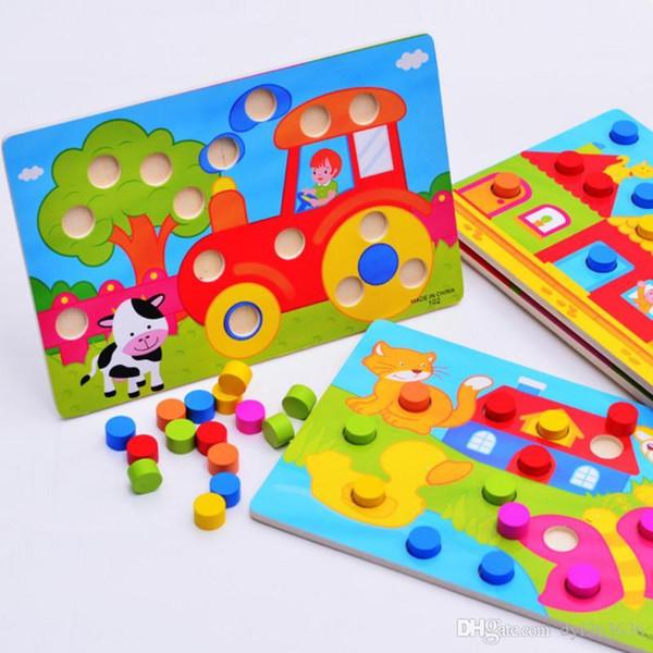 1шт Монтессори Деревянные Tangram Головоломка Настольные Развивающие Early Learning Мультфильм Вуд Пазлы Игры Детские игрушки для детей Подарки