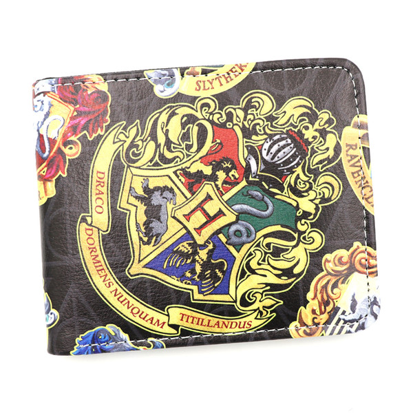 Cosplay Anime Harry Potter Synthetic Leather Wallet Men Women Gift Purse Fashion Card Holder Money Bag