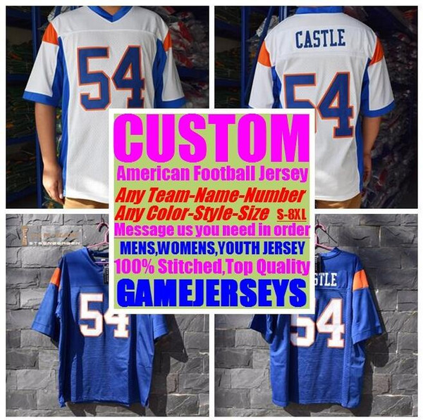 top popular Customized american football jerseys college cheap authentic rugby retro sports jersey stitched mens womens youth kids 4xl 5xl 6xl 7xl 8xl 2019