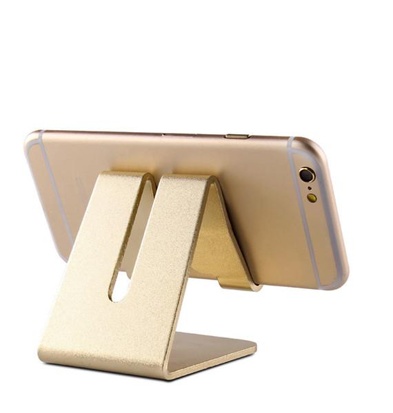 100 adet Evrensel Alüminyum Metal Cep Telefonu Tablet Danışma Tutucu kaymaz Cep Telefonu Sahipleri Danışma Masa Cep Telefonu Için Cradle ...
