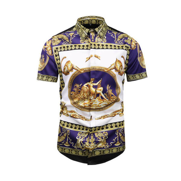 huy Apparel Europe and the United States the world's high-quality printing is very perfect head There Medusa label Men's T-Shirts Asia size