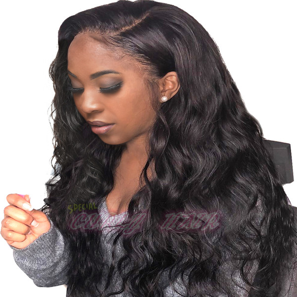 Popular Big Body Wave Human Hair Wigs Bleached Knots Full Lace Wigs Malaysian Medium Size Swiss Lace Cap Lace Front Wigs