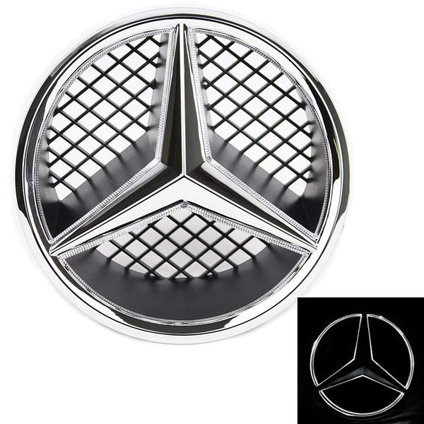 Ha condotto l'emblema per Mercedes Benz 2005-2013 anteriore dell'automobile griglia Badge, logo illuminato Hood stella DRL, luce bianca - Unità Brighter