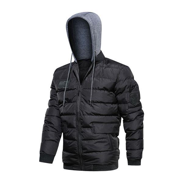 Winter Jackets Men 2019 Casual Thicken Parkas Hooded Coats Overcoat Warm Cotton-Padded Bomber Jackets Baseball Coat 5XL