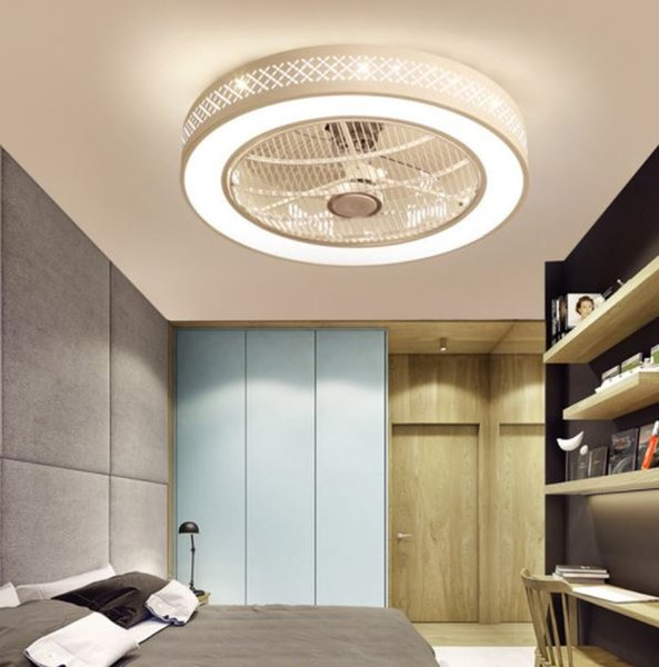 Simple modern creative personality ceiling fan light restaurant living room corridor porch bedroom home led ceiling lamp
