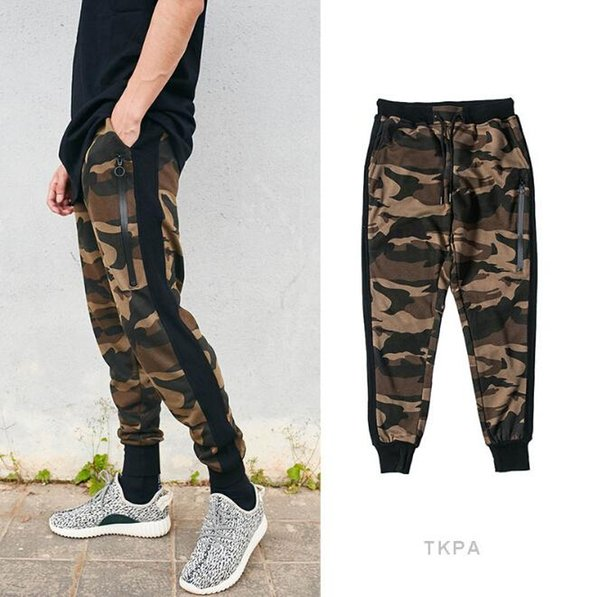 Men Fashion Camouflage Pants Casual Sports Wear Clothing Pencil Pants Male Joggers